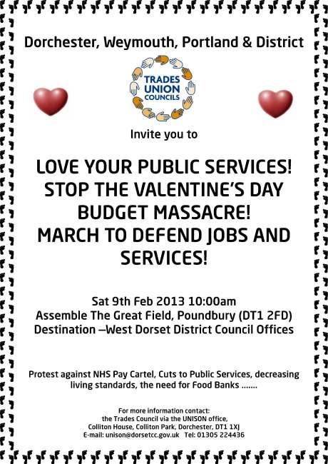 Dorchester Anti Cuts March