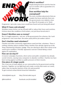 Click here to read our 'workfare FAQ' leaflet from the day