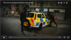 Loving this footage of someone trying to fight a police car by kicking it wither their trainers