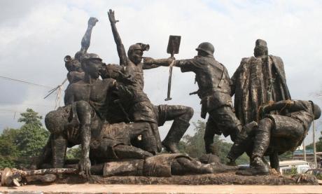 Monument to the dead at Enugu, Nigeria.
