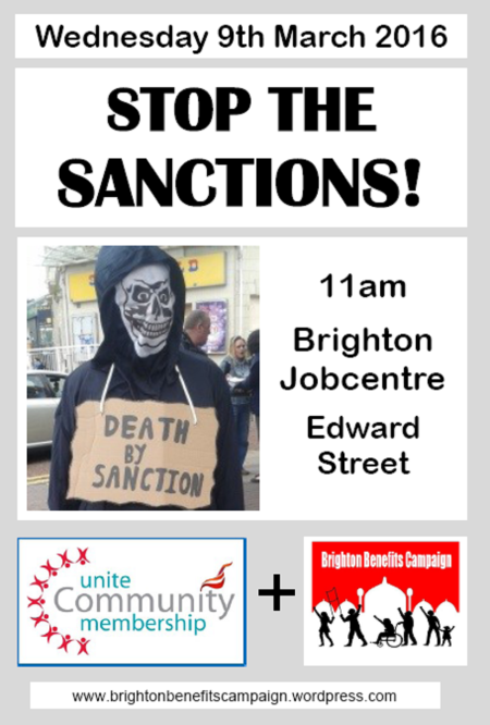 Day of Action Against Sanctions poster