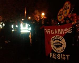 Protest against council cuts Nov 2016