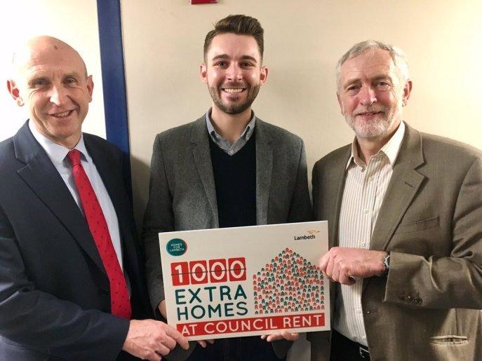 John Healey, Matthew Bennet and Jeremy Corbyn, Lambeth Labour Manifesto 2018