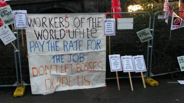 From the #paytherate protest in Rotherham