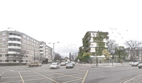 ASH, Brixton Gardens, architectural rendering by Leonie Weber